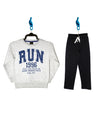 Boys Pack Sweatshirt/Trouser (Off-white/Black)