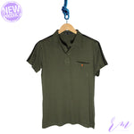 Men Collar Tee (Mid Blue