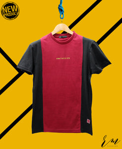 Men Panel Tee (Maroon)