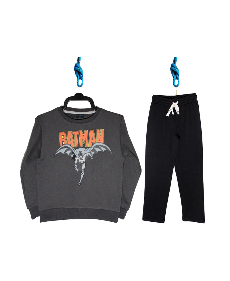 Boys Pack Sweatshirt/Trouser (Charcoal/Black)