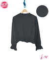 Ladies Frill Sweatshirt (D Green)