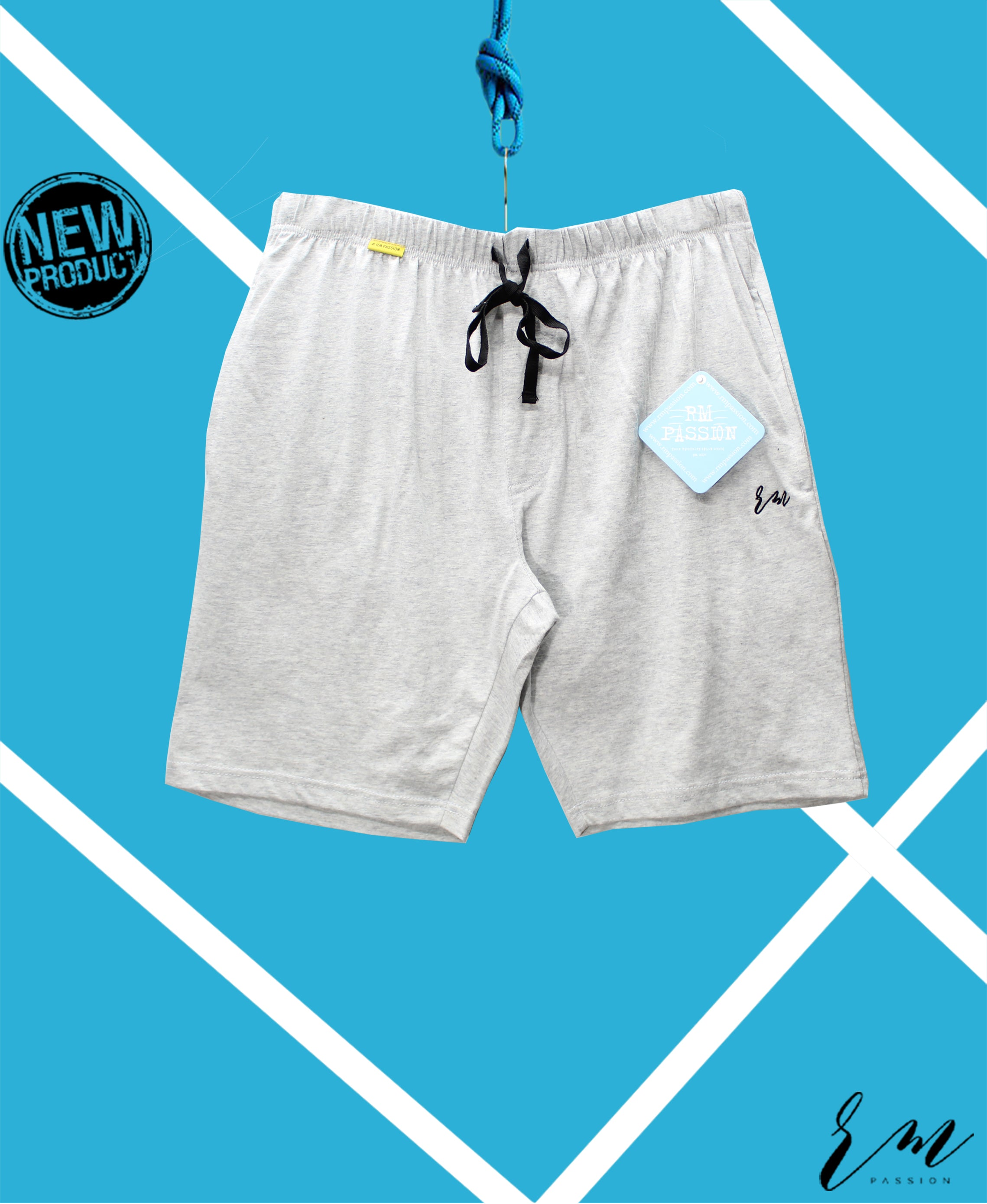 Men Relax Fit Shorts (Light Grey)