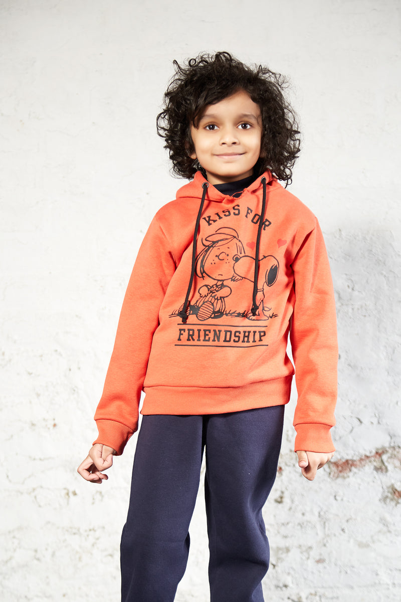 Boys Pullover (Rust Orange)