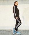 Ladies Zipper Track Suit (Black)