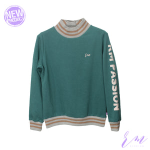 High collar Sweatshirt ( W-19-03) (COLORS AVAILABLE)