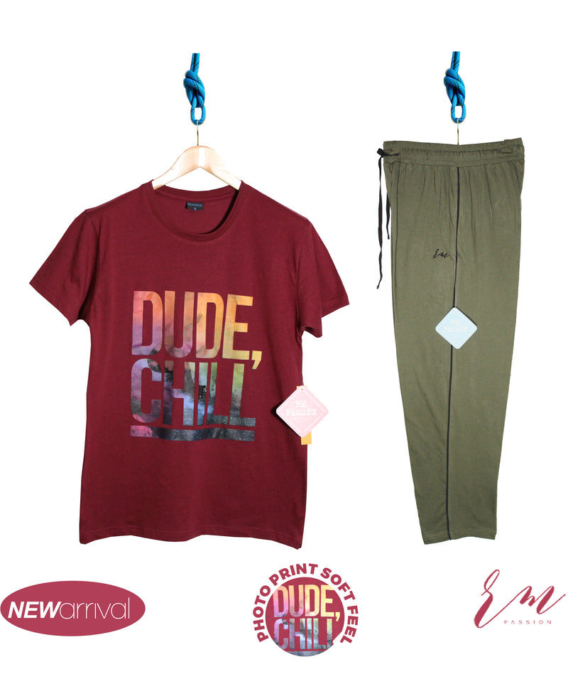 Mens pack (Burgundy Dude Chill  / Green Trouser)