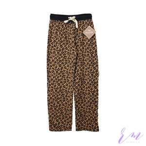 Brown cheeta print trouser