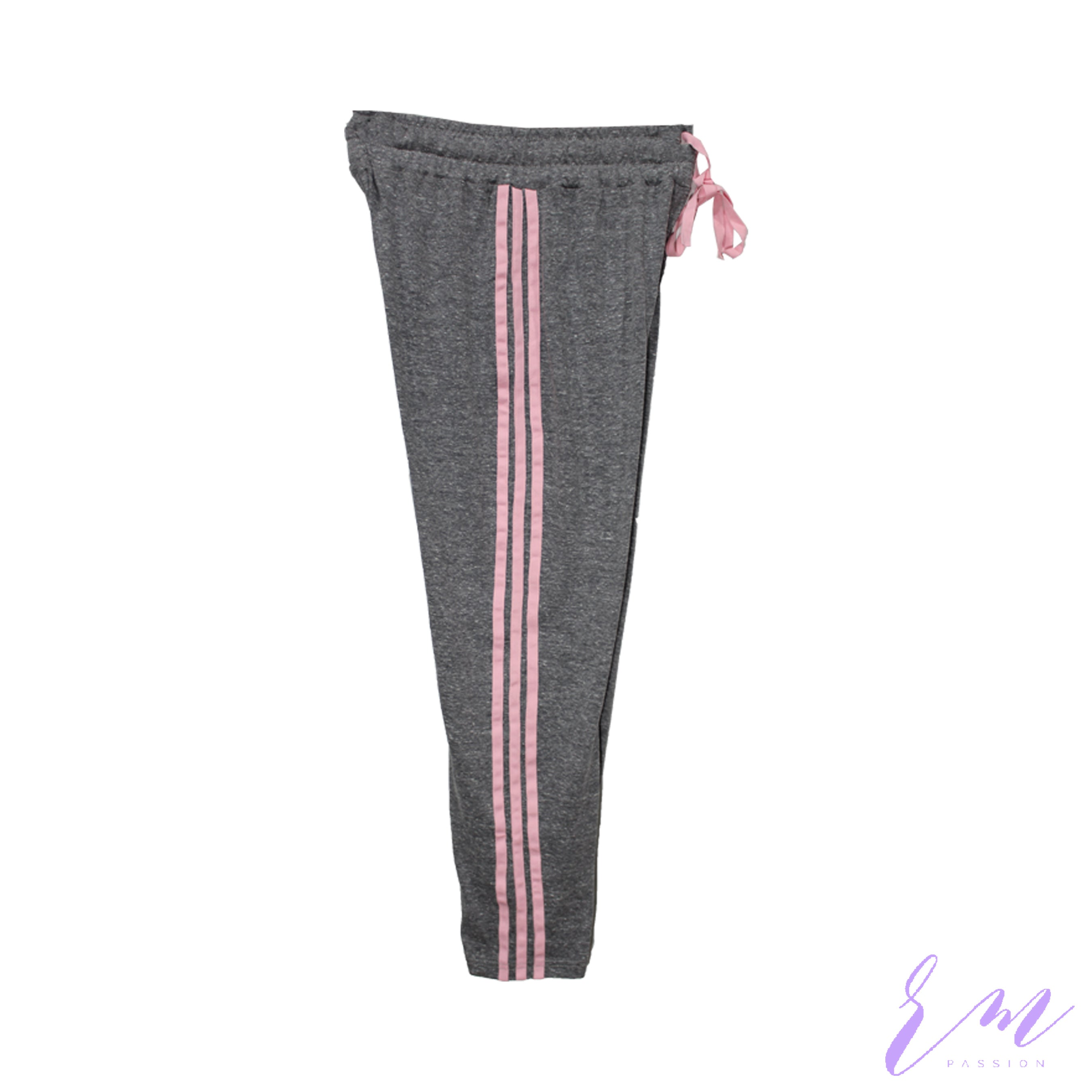 Ladies Stripes Capri (Grey)