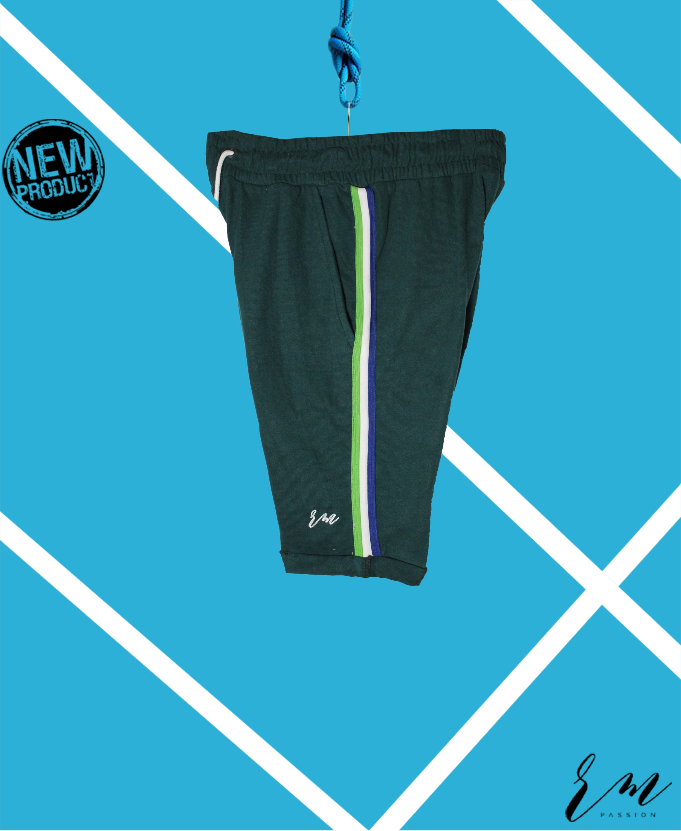Men Slimfit Sports Shorts (Green)