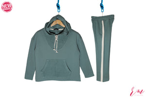 Ladies Track Suit (Mid Green) (Colors Available)