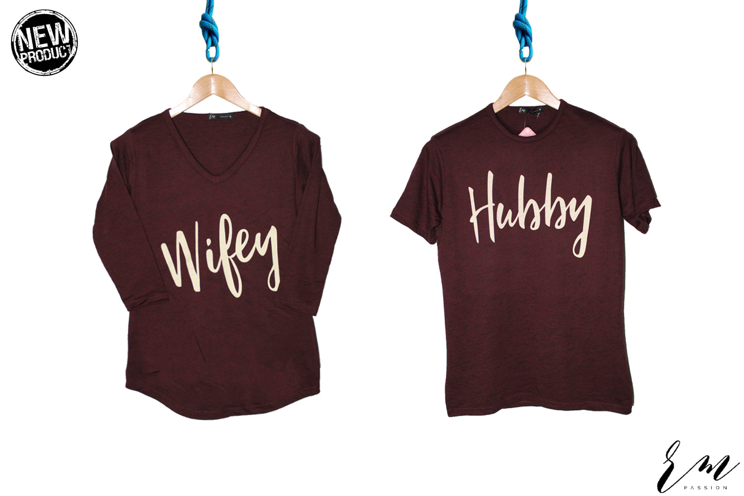 Unisex Couple T Shirt ( Maroon)