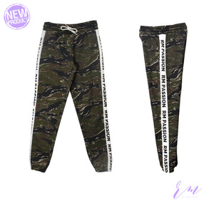 Gym fit trouser ( W-19-army print)