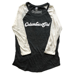 Columbus Girl Baseball Tee