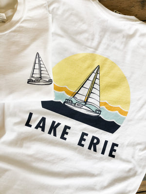 Lake Erie Sailboat Long Sleeve Tee