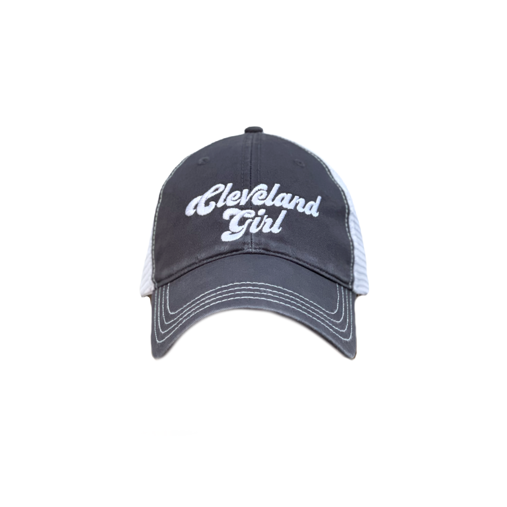 Cleveland Girl Trucker Hat - Charcoal