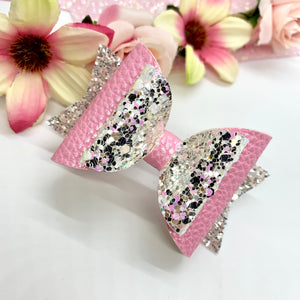 Pink Jewel - Lewis Leigh Hair Bows - Glitter Bows