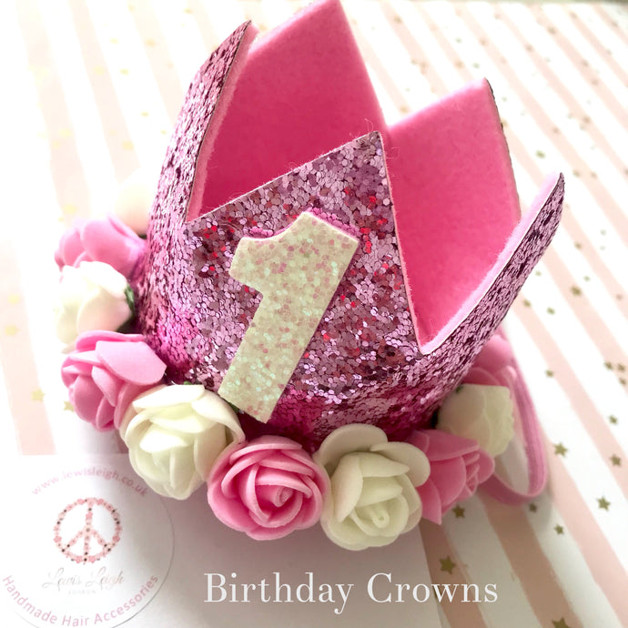 Birthday Crown - 3 Colour Options - Lewis Leigh Hair Bows and Accessories