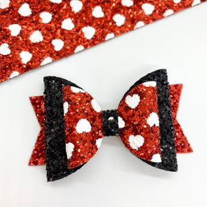 Minnie - Lewis Leigh Hair Bows - Glitter Bows