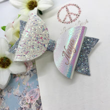 Load image into Gallery viewer, Bluebell Name Bow - Lewis Leigh Hair Bows - Glitter Bows