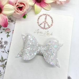 Icicle - Lewis Leigh Hair Bows - Glitter Bows