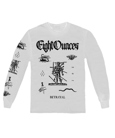 Camiseta - Eight Ounces - Betrayal Longsleeve White