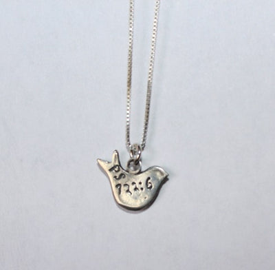 Sterling silver dove pendant with chain all israel shop aloadofball Choice Image