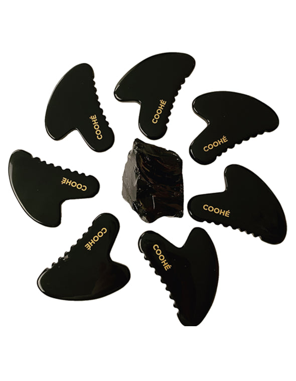 GUA SHA Black Obsidian Massage sten