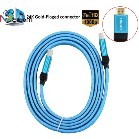 1.8M Gift Sale HDMI Cable Male to Male Gold Plated HDMI 1.4V 1080P 3D For Ps3 Xbox appletv HDTV Computer Cable