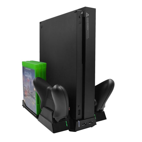 Multi-Functional Charging Vertical Stand for Xbox One X Game Console
