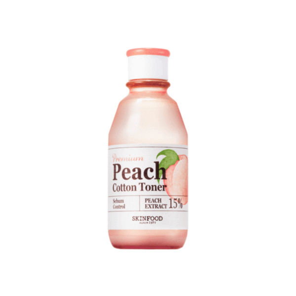 SKINFOOD Premium Peach Cotton Toner - Mumui