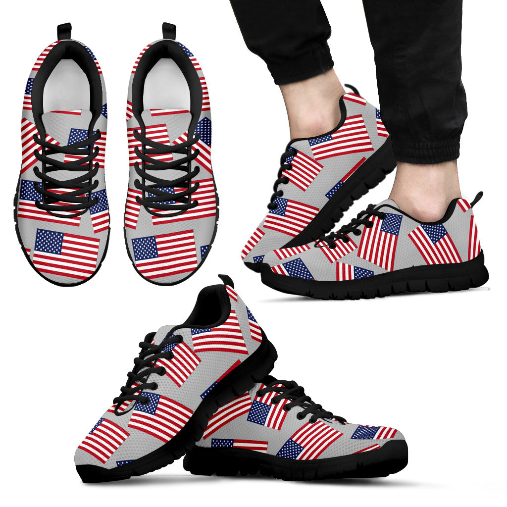 AMERICAN PRIDE! - USA FLAG SHOES GREY