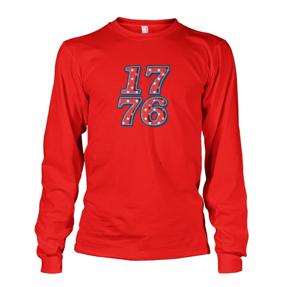 1776 Long Sleeve - Red / S - Long Sleeves