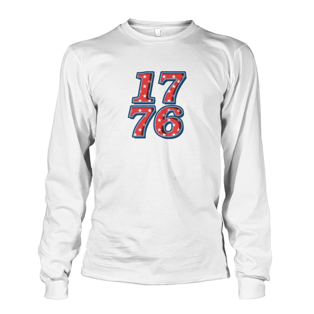 1776 Long Sleeve - White / S - Long Sleeves
