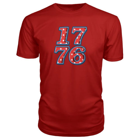 Image of 1776 Premium Tee - Red / S - Short Sleeves