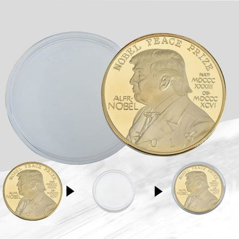Image of 2018 Donald Trump NOBEL PEACE PRIZE Coin - Trump Coins and Currency
