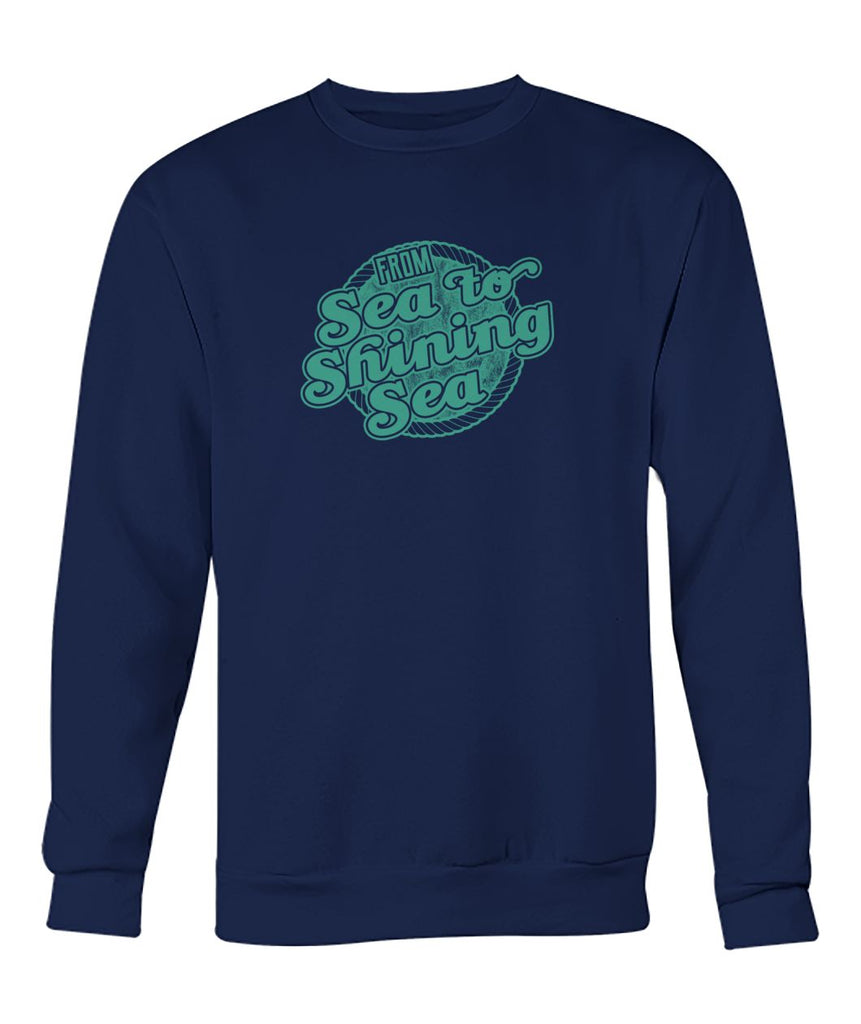 Sea To Shining Sea Blue Sweatshirt