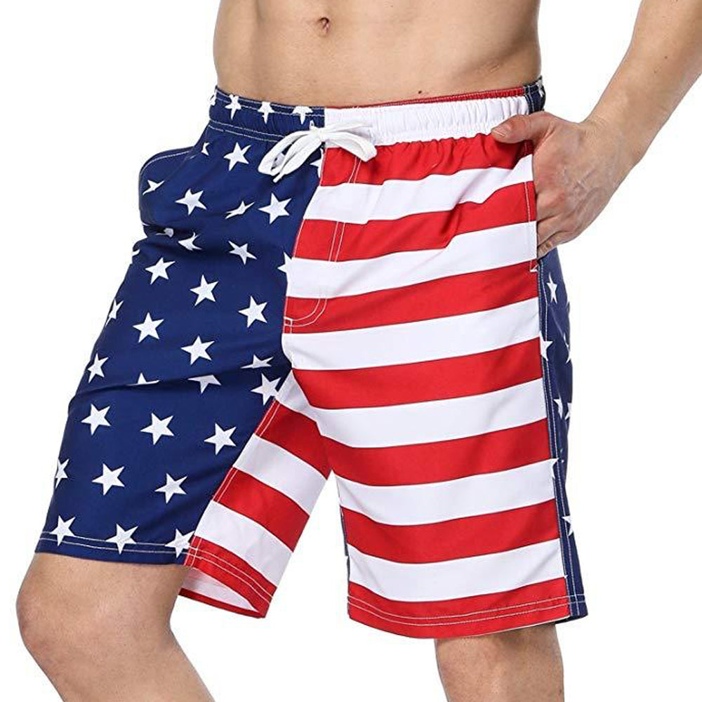Honor Our Veterans Mens Beach Shorts Quick Dry Bathing Suit