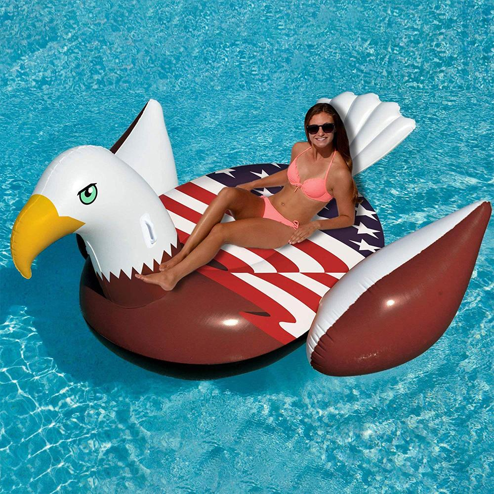 Giant Patriotic Bald Eagle Inflatable Swimming Pool Float