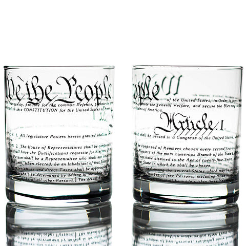 United States Constitution Whiskey Glass Set