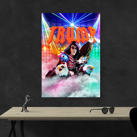Trump Rock Star Portrait Canvas