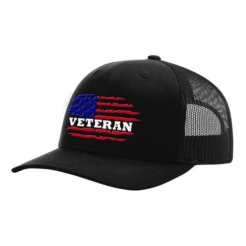 Image of Colored Veterans American Flag Hat