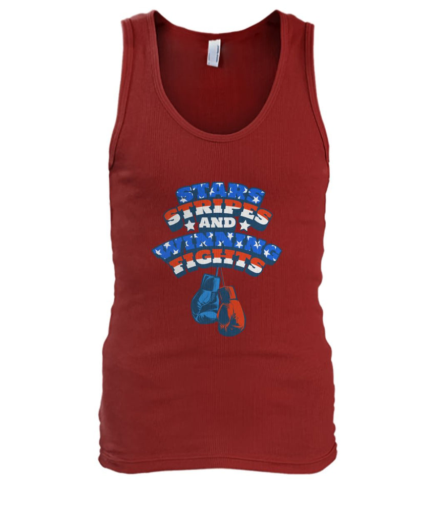 Star Stripes And Winning Fights Tank Top