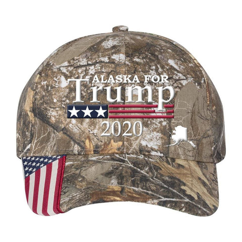 Alaska For Trump 2020 *MADE IN THE USA* Hat - Realtree Edge