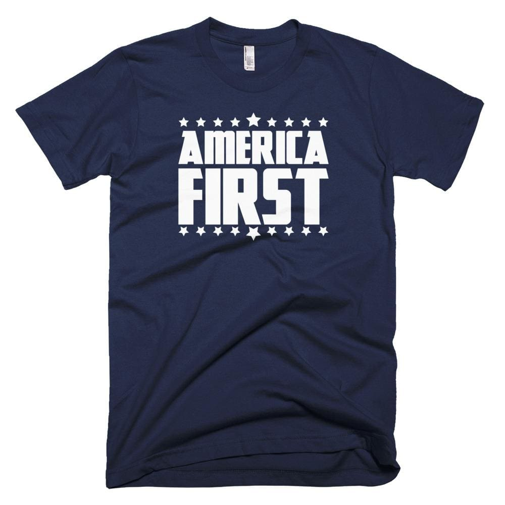 America First *MADE IN THE USA* Unisex T-shirt - Navy / XS