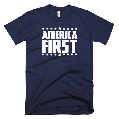Image of America First *MADE IN THE USA* Unisex T-shirt - Navy / XS