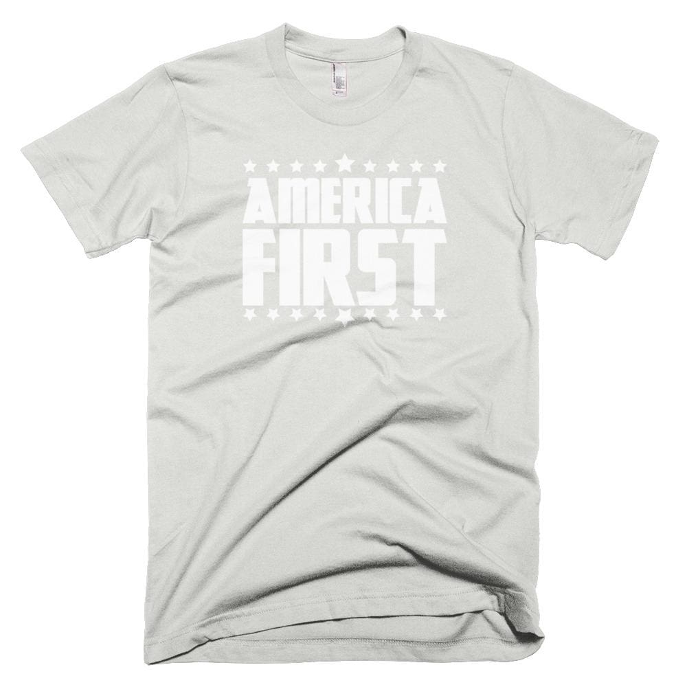 America First *MADE IN THE USA* Unisex T-shirt - New Silver / XS