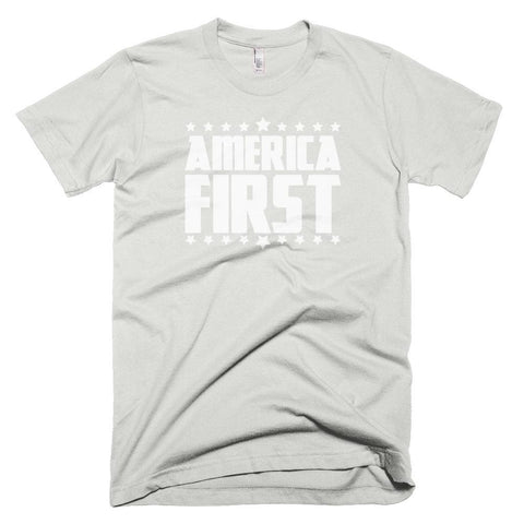 Image of America First *MADE IN THE USA* Unisex T-shirt - New Silver / XS