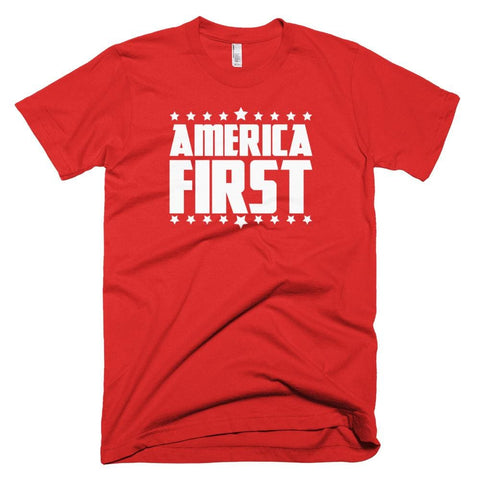 Image of America First *MADE IN THE USA* Unisex T-shirt - Red / XS