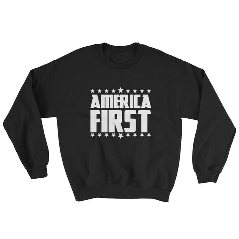 America First Sweatshirt - Maroon / S
