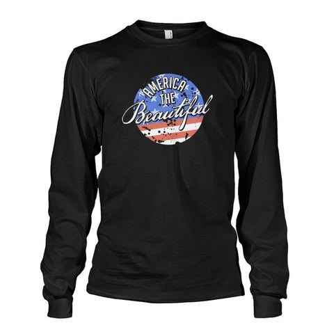 Image of America The Beautiful Long Sleeve - Black / S - Long Sleeves